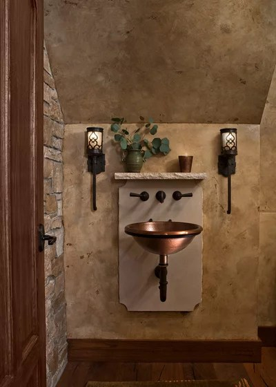 Traditional Powder Room by CBI Design Professionals, Inc.