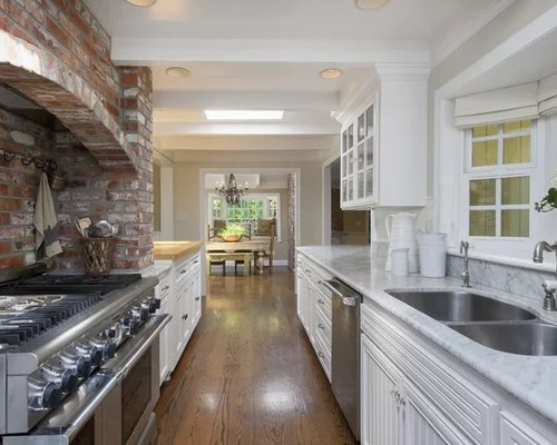 kitchen island with sink and stove top ceiling ideas best alley design & remodel pictures | houzz