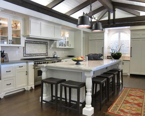 narrow kitchen countertops led ceiling light fixtures island seating | houzz