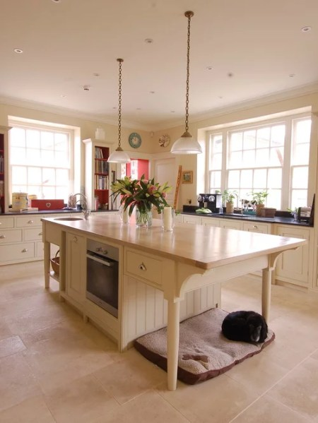 cream kitchen with islands Cream Kitchen Home Design Ideas, Pictures, Remodel and Decor