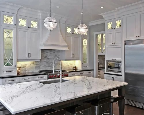 white kitchen with grey granite White And Gray Granite | Houzz