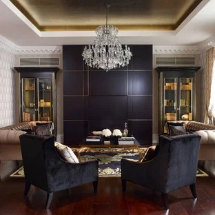 black and gold living room ideas modern design pictures photos houzz library traditional dark wood floor idea in london with beige
