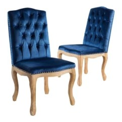 Navy Blue Dining Chairs Set Of 2 Wedding Chair Covers Rentals Seattle Cello New Velvet By Gdfstudio Great Reviews