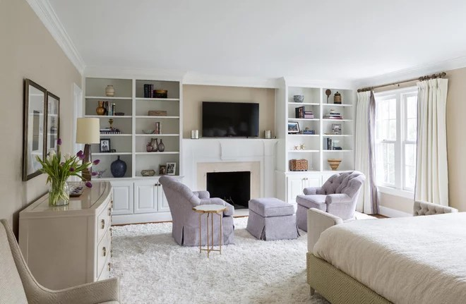 Transitional Bedroom by Homegrown Decor, LLC