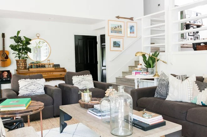 Transitional Family Room by Design Shop Interiors