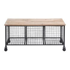 Work Bench With Basket Casters