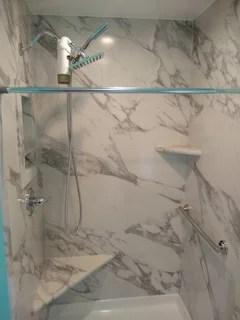 Flexstone Shower : flexstone, shower, Flexstone/Sentrel, Panels, Calacatta, White, Pictures
