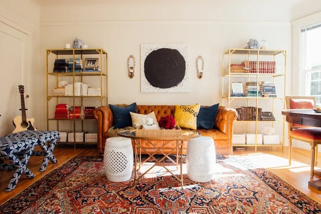 Eclectic Living Room by Nanette Wong