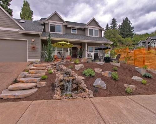 grassless front yard home design