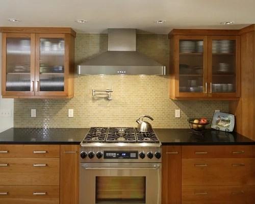 flat front kitchen cabinets zephyr best glass tile backsplash design ideas & remodel pictures ...