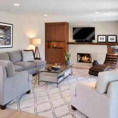 Gray Chair And A Half Teak Lounge Cushions Sectional Area Rug | Houzz