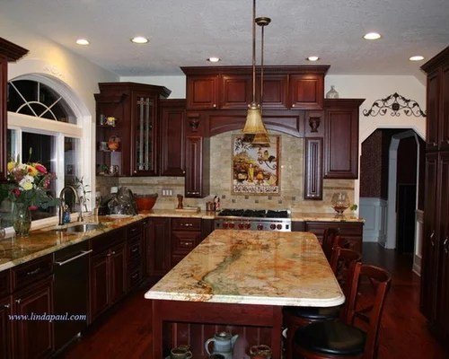 Kitchen Ideas With Cherry Wood Cabinets Nrtradiant Com