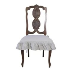 Chair Covers Gray Kids Table Chairs 2 50 Most Popular Slipcovers And For 2019 Houzz Dining Beautiful Llc 100 Flax Linen Seat Cover With Ruffle Natural