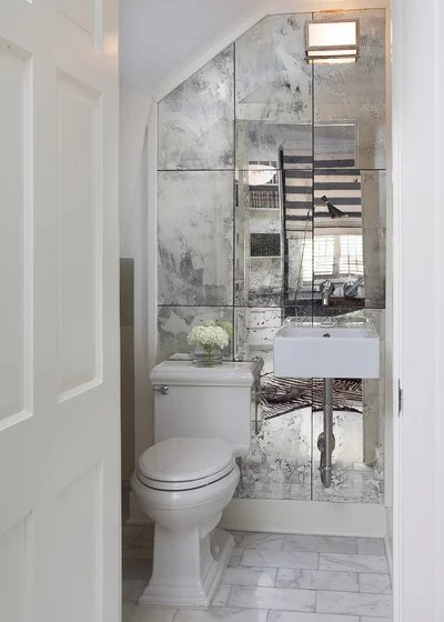 Contemporary Powder Room by TY LARKINS INTERIORS