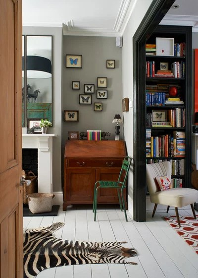 dark wood furniture living room decorating ideas wall mirror singapore how to incorporate into any space eclectic home office library by turner pocock