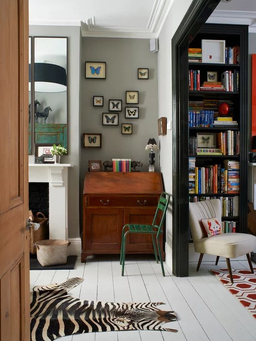 Eclectic Home Office Design Ideas Remodels  Photos