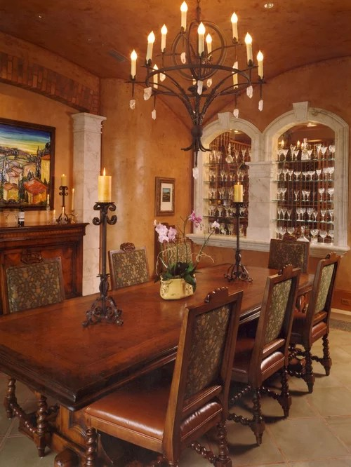 Tuscan Dining Room Home Design Ideas Pictures Remodel