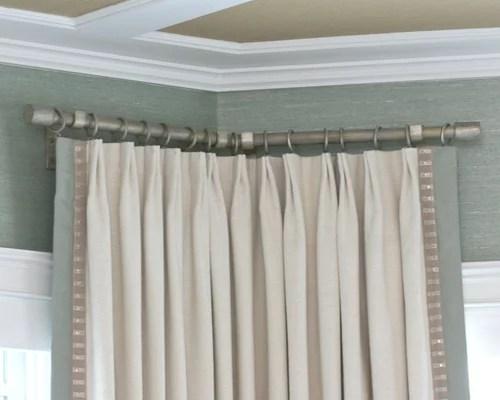 Corner Curtain Rod  Houzz