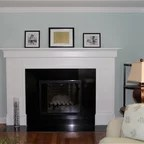 Baby Blue Living Room Transitional Living Room New