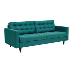 teal sofas sofa isi dacron 50 most popular turquoise couches for 2019 houzz modway empress upholstered