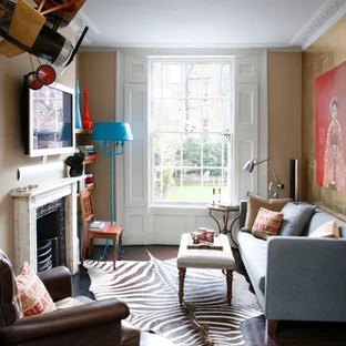 traditional small living room decorating ideas decor brown leather couch houzz