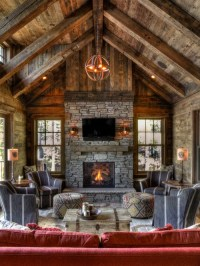 Barnwood Fireplace Home Design Ideas, Pictures, Remodel ...