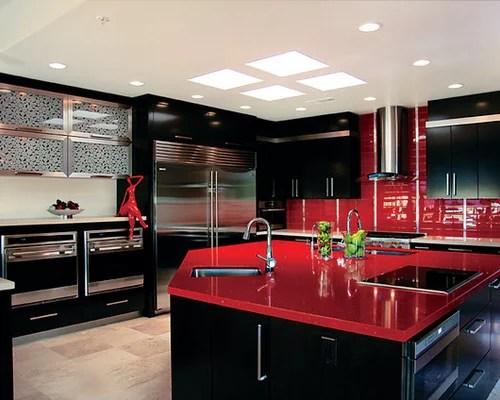 Red Quartz Countertops  Houzz