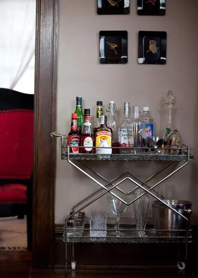 Traditional Dining Room Bar Cart