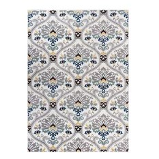 Well Woven Electro Rug Darling Floral Gold 5'3x7'3