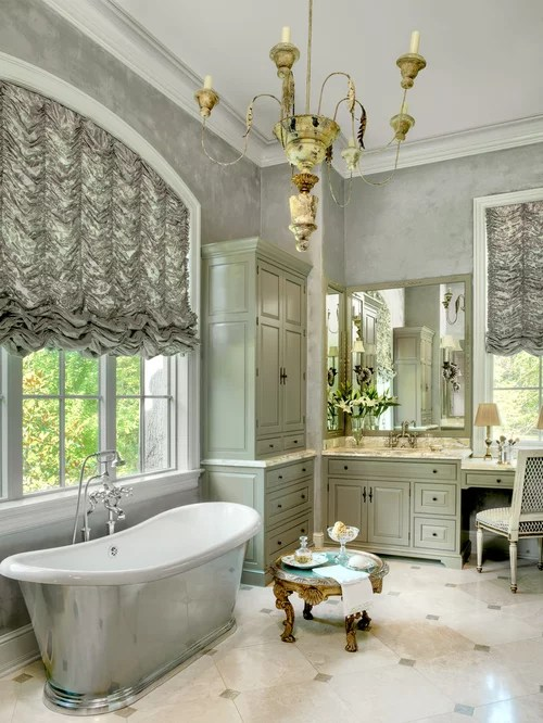 Houzz  Grey And Green Bathroom Design Ideas  Remodel Pictures