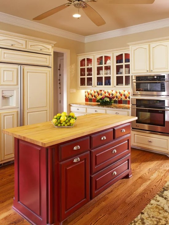 Cream Colored Kitchen Cabinets Houzz