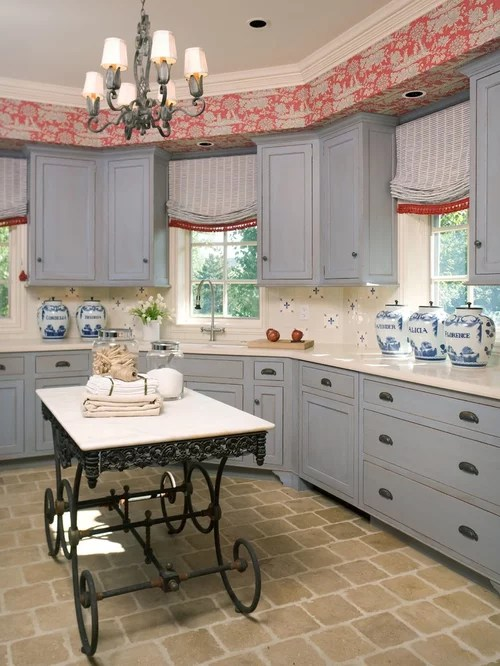 country kitchen ideas on a budget wall shelf wallpaper in soffit | houzz
