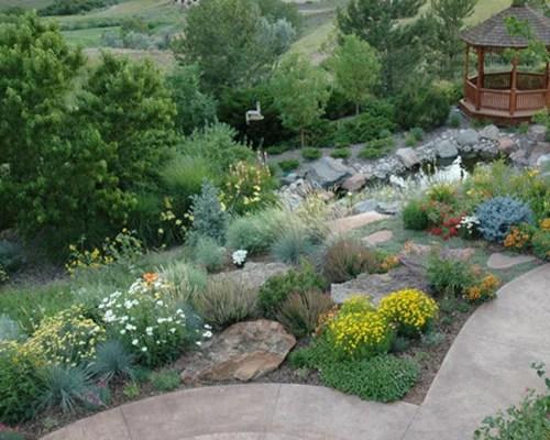 dry climate landscape home design