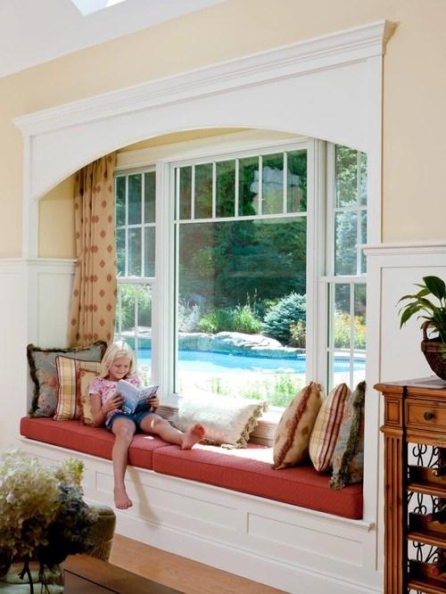 Family Room Window Seat Houzz