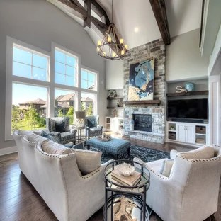 living room ideas with gray walls paint options for 75 most popular design 2019 stylish transitional formal and open concept dark wood floor brown photo in kansas