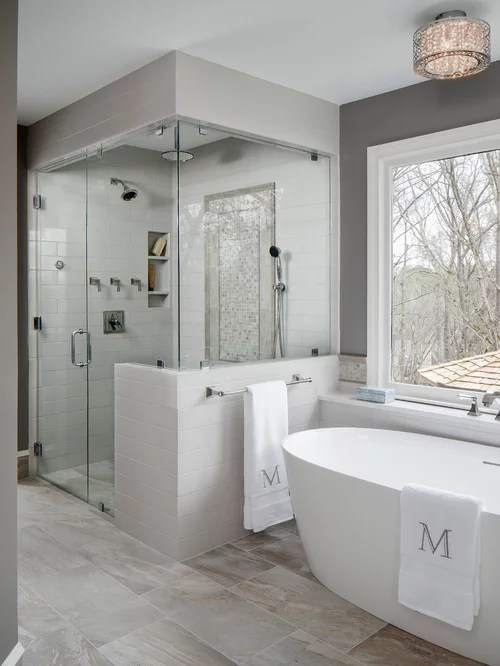 75 Trendy Master Bathroom Design Ideas  Pictures of Master Bathroom Remodeling  Decorating
