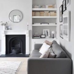 Decorate Small Living Room With Fireplace Oak Furniture 75 Most Popular Design Ideas For 2019 Stylish Inspiration A Scandinavian Enclosed Light Wood Floor And White Remodel In