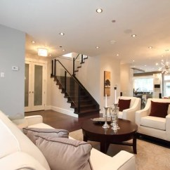 Living Rooms With Dark Gray Walls Grey Fabric Sofa Room Ideas Recessed Lighting Placement | Houzz