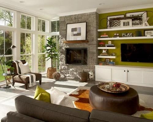 Floating Shelves Beside Fireplace Home Design Ideas