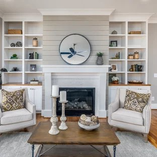 country living rooms with gray walls remodel room 75 most popular grey design ideas for photo of a farmhouse formal open plan in raleigh medium