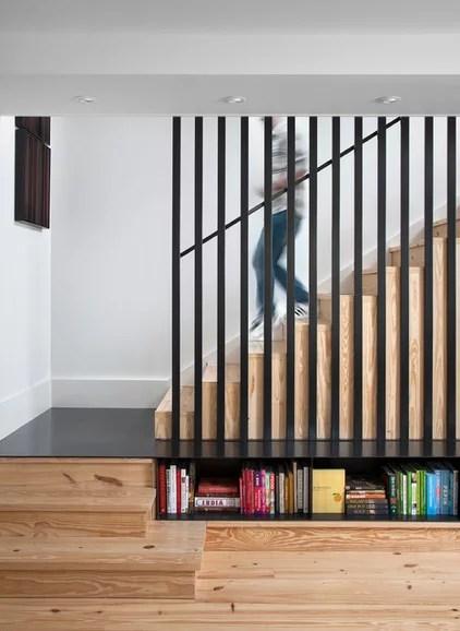 Scandinavian Staircase by Texas Construction Company