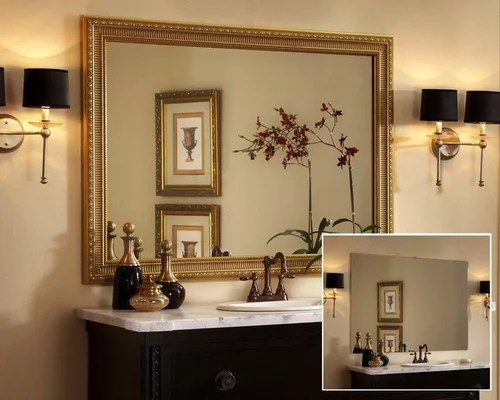 Framed Bathroom Mirror Home Design Ideas, Pictures