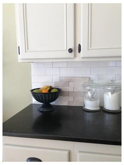 beige kitchen cabinets with white