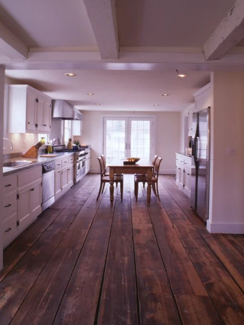 Kitchen With Wide Plank Floors