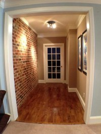 Faux Brick Wall Home Design Ideas, Pictures, Remodel and Decor