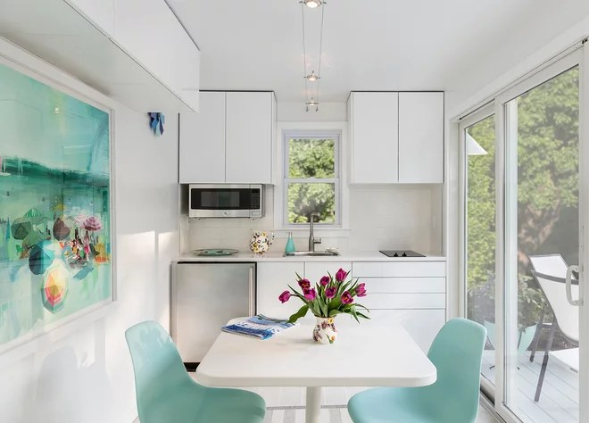 Beach Style Kitchen by Janine Lamontagne Photography LLC