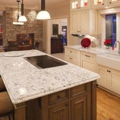 Antiqued Kitchen Cabinets Revolving Spice Racks For Arctic White Granite | Houzz