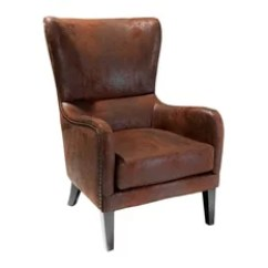 Leather Accent Chairs Troutman Chair Outlet 50 Most Popular Armchairs And For 2019 Houzz Gdfstudio Salerno Studded High Back Club Patina Brown