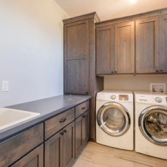 Drop In Farmhouse Kitchen Sinks Navy Rug Best Laundry Room With Dark Wood Cabinets Design ...