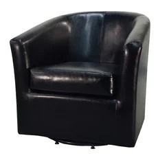 Hayden Swivel Bonded Leather Chair Black